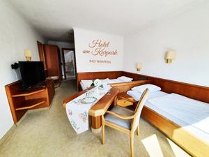 Einzelzimmer im Hotela am Kurpark Bad Wampfen