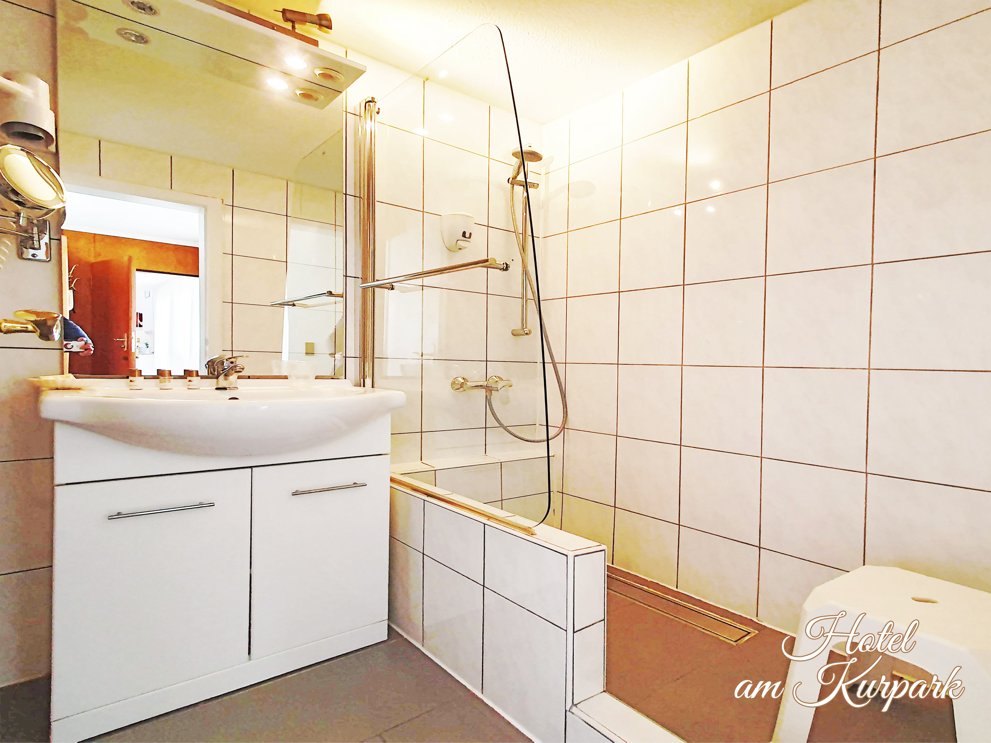 Badezimmer des Einzelzimmers